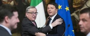 Matteo Renzi incontra Jean Claude Juncker